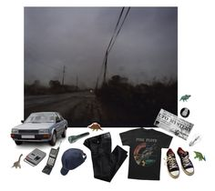 """""""Sign of life"""" by ladybugfromforestofdean ❤ liked on Polyvore featuring Floyd, AG Adriano Goldschmied, Converse, Scotch Shrunk, Osram and CASSETTE"""