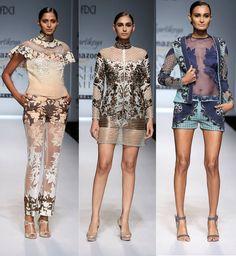 Kartikeya's elaborate vision for summer  #SS16 #fashion #trends #aifw