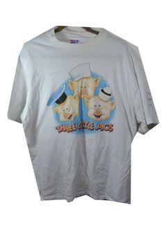 #Vintage #WaltDisney #Classics Collection #ThreeLittlePigs #cartoon #art #shirt in my etsy store