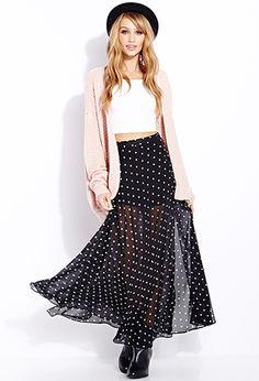 Darling Dot Maxi Skirt | FOREVER 21 - 2000108219