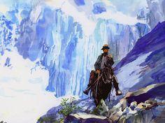 Chemin de montagnes
