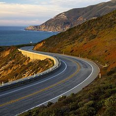 Highway 1    Shoot roads and fences where they curve, not where they appear straight. There's a reason winding California Highway 1 shows up in so many movies.