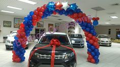 Red & Blue Balloon Arch
