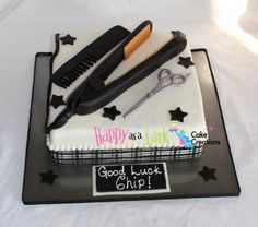 Cake for cosmetology graduate!