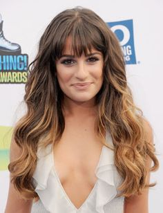 Lea Michele with perfect hair