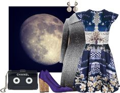 """""""The stars, the moon , i'm always in this twilight."""" by siilvia ❤ liked on Polyvore"""