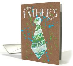 Send warm wishes and love to dad with this beautifully illustrated card. The vibrant colors and playful attitude are sure to make any dad's day! by Karen Blados