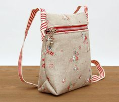 How To Sew. DIY toddler crossbody bag with free template. Pattern & Photo Tutorial
