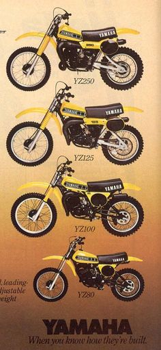 1979 Yamaha YZ Line-up, sans 400