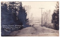 BC – FERNIE, View of W. Fernie After the Fire of 1908, 4 Bridges Burnt Out RPPC