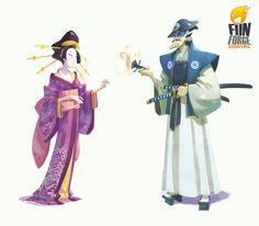naïade, illustrateur freelance: TOKAIDO