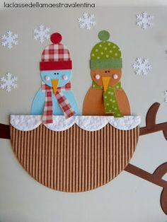 Boom in de sneeuw - diy and crafts Craft Activities For Kids, Preschool Crafts, Kids Crafts, Diy And Crafts, Arts And Crafts, Fall Paper Crafts, Scrapbook Paper Crafts, Winter Crafts For Kids, Art For Kids
