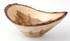 Bark Edge Ambrosia Maple serving bowl made by Stinson Studios.