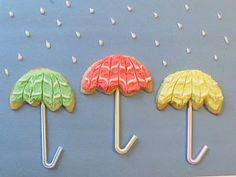 april showers bring may flowers... umbrella cookies