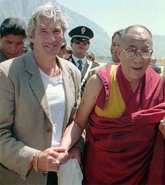 Richard Gere and His Holiness The 14th Dalai Lama in 2007 - two of my favorite people together :)
