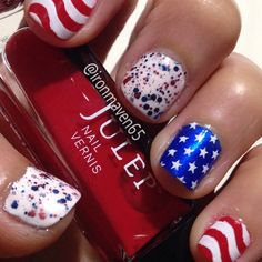 NOTD Memorial Day mani with @Julep January, Ally and Fireworks. Cult Nails Tempest and @Mdu White.  #ManiMonday #nailart #nails #NOTD #julepmaven #JulepJanuary #JulepAlly #MDU #AIS #aistamping #JulepFireworks