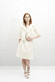 vanina escoubet Veste Perfecto ALFRED crème white robe bustier shoes emma go compensées mariage retro wedding