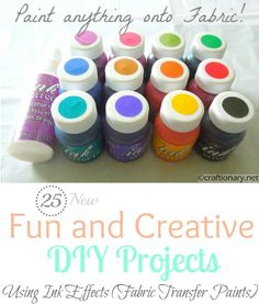 Ink Effects Round Up- decoart fabric transfer paint diy projects