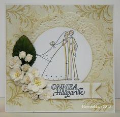 Stampendous wedding couple Wedding Crafts, Wedding Couples, Wreaths, Cards, Decor, Decoration, Door Wreaths, Deco Mesh Wreaths, Maps