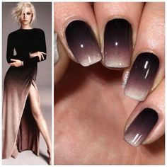 """Simple ombre inspired by the dress by Antidote Fall/Winter 2015☺️"" #nailart"