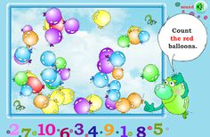 Interactive Education: Count the Balloons. The website link is on the blog.
