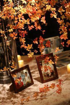 思い出のテーブル 紅葉と紅茶のバラで シェ松尾青山サロン様へ