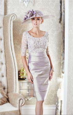 Ian Stuart Beaded Lace Silk Dress with lace sleeve Lilac Gold Lace Silk, Silk Dress, Beaded Lace, Lace Fabric, Frack, Metallic Dress, Groom Dress, Knee Length Dresses, Wedding Party Dresses