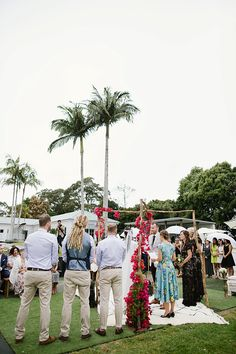Jess + Matt's Byron Bay wedding was a luxe bohemian love-fest rich with colour, texture and beautiful details. Byron Bay Weddings, Love Fest, Palm Trees, Real Weddings, Dolores Park, Wedding Planning, Beautiful, Palm Plants