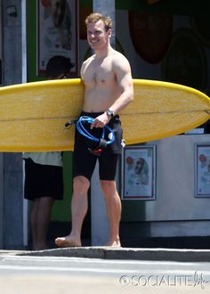 Shirtless Michael Fassbender Does Some Surfing At Bondi Beach