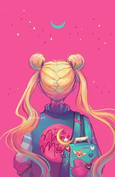 she is the one named sailor moon~~ Sailor Moon Crystal, Sailor Moon Fan Art, Sailor Moon Manga, Sailor Moon Aesthetic, Aesthetic Anime, Aesthetic Dark, City Aesthetic, Purple Aesthetic, Cute Cartoon Wallpapers