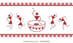 Find Indian Tribal Painting Warli Painting stock images in HD and millions of other royalty-free stock photos, illustrations and vectors in the Shutterstock collection. Pottery Painting Designs, Paint Designs, Pottery Art, Water Paint Art, Spray Paint Art, Worli Painting, Fabric Painting, Black Painting, Stone Painting