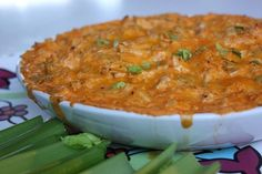 This Blazing Buffalo Chicken Dip is a dip that tastes like wings! Perfect dip for Super Bowl Sunday.