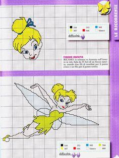 flying tinker bell cross stitch