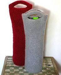 Easy Wine Totes.....//great idea for leftover yarn