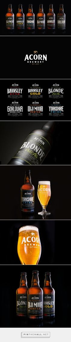 Acorn Brewery Rebrand — The Dieline - Branding & Packaging - created via http://pinthemall.net