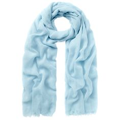 Buy Whistles Plain Lightweight Scarf, Pale Blue Online at johnlewis.com