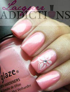 """China Glaze- """"Naked"""". Lacquer Addictions nail blog."""