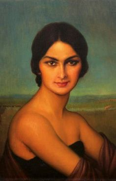Julio Romero de Torres  - this panting reminds me so much of Gina!