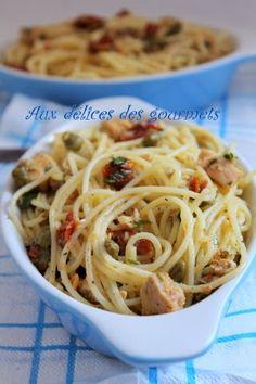 Aux délices des gourmets: SPAGHETTIS AU THON ET AUX CÂPRES
