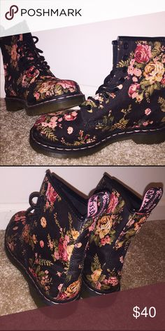 Dr.Martens (Doc Martens) These pairs of shoes have been worn only once. They're cute, stylish, comfortable, and trendy Doc Martens. Dr. Martens Shoes Combat & Moto Boots