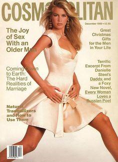 Claudia Schiffer by Francesco Scavullo for Cosmopolitan US, December 1989 Fashion Magazine Cover, Fashion Cover, 90s Fashion, Fashion Models, Vintage Fashion, Magazine Covers, Fashion Beauty, Claudia Schiffer, Francesco Scavullo