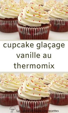 Cupcake Thermomix, Thermomix Desserts, Natural Remedy For Hemorrhoids, Natural Remedies, Creme Cupcake, Preparation H, Number Cakes, Vegan Ice Cream, Mini Cakes