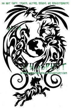 Animals And Earth Tattoo by WildSpiritWolf.deviantart.com on @DeviantArt