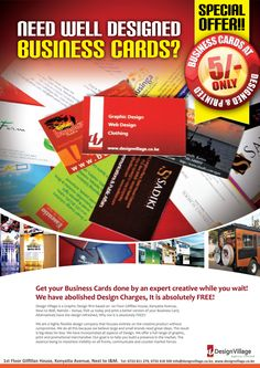 Design Village business cards poster