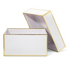 sugar paper white + gold gift box - small