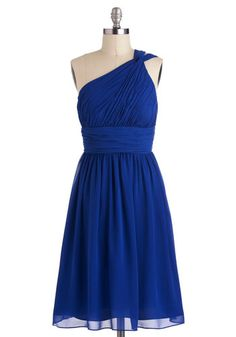 Moonlight Marvel Dress in Royal Blue. At this evenings formal fete, you and your sweetheart step out onto the veranda for a breath of fresh air. Dama Dresses, Prom Dresses, Summer Dresses, Dress Prom, Chiffon Dress, Party Dress, Short Bridesmaid Dresses, Short Dresses, Plum Bridesmaid