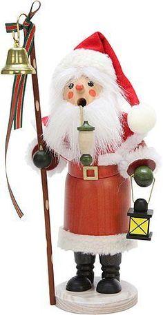 Christian Ulbricht German Smoker Santa Claus with lantern 30,5cm/12in  (35-273)