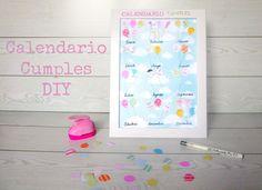Aprende handmade: Crea tu calendario de cumpleaños. Diseño Gráfico Personalizado para Blogueras y Emprendedoras Valientes Office Supplies, Diy, Crafts, Blog, Birthday Calender, Printable Calendars, Design Web, One Day, Tutorials