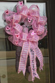 deco mesh baby wreaths for hospital doors -