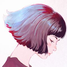 "kuvshinov-ilya: "" Little fan art of Gris from http://www.grisgame.com/ https://www.patreon.com/posts/6150607 """
